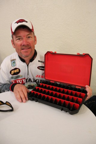 Bassmaster Elite Series angler Stephen Browning with his 3700 Bait Coffin by Bass Mafia