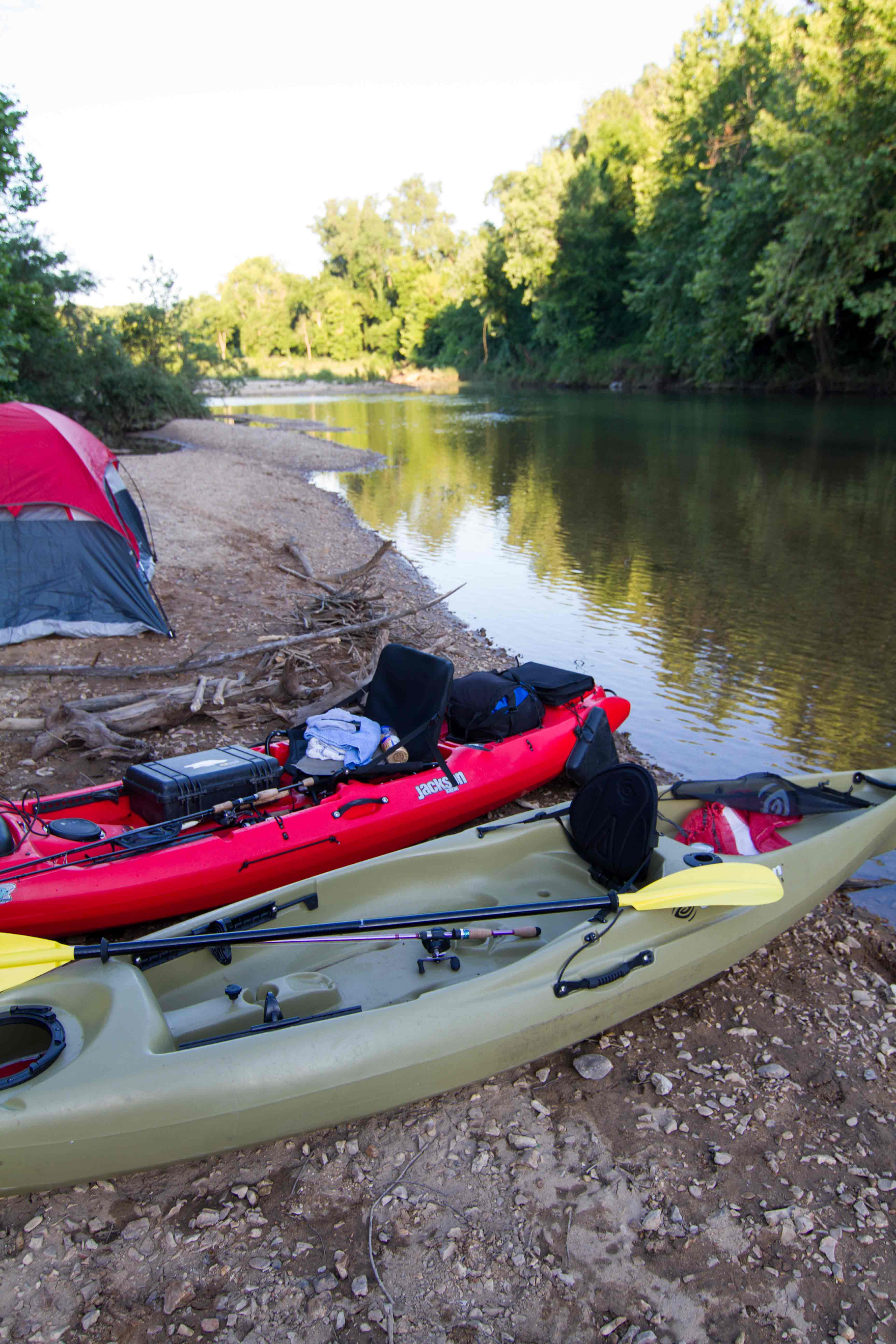 Camp-site-on-the-Kings-River-in-Arkansas