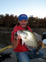 Tournament Crappie Professional Anlger and Crappie Fishing Guide Todd Huckabee with full size crappie