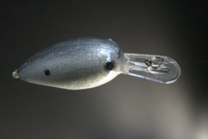 Medium diving Wiggle D in Silver Shad