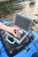 GoPro HD HERO camera in a Pelican 1120 Watertight Protector Case