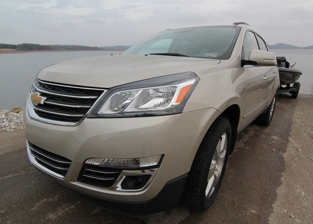 2013 Chevrolet Traverse LTZ  on boat ramp