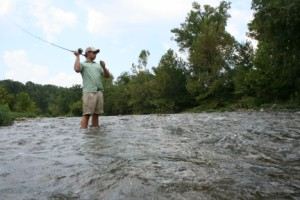 Fly fishing Crooked Creek