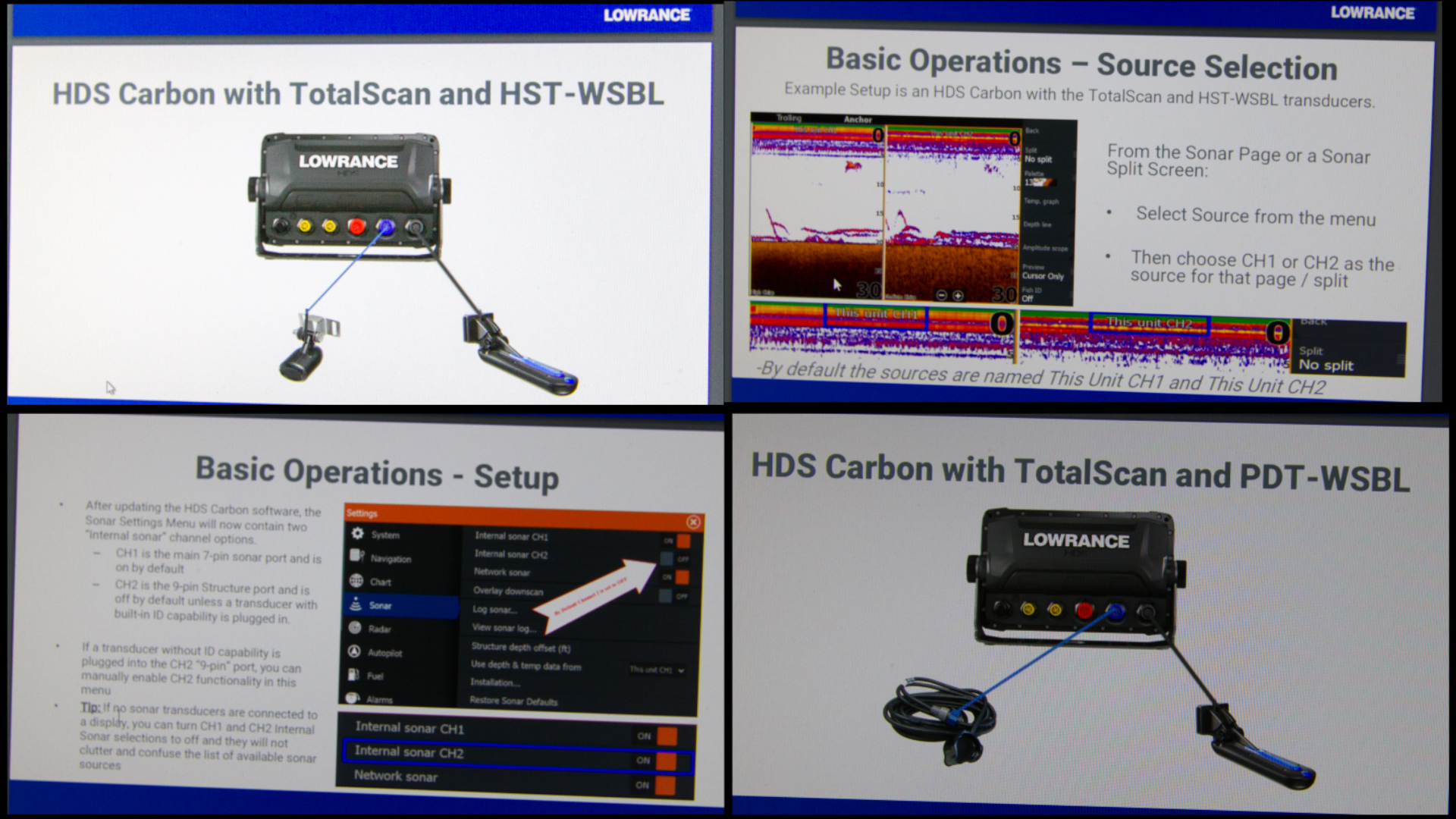 New Lowrance Carbon Dual channel CHIRP capabilities