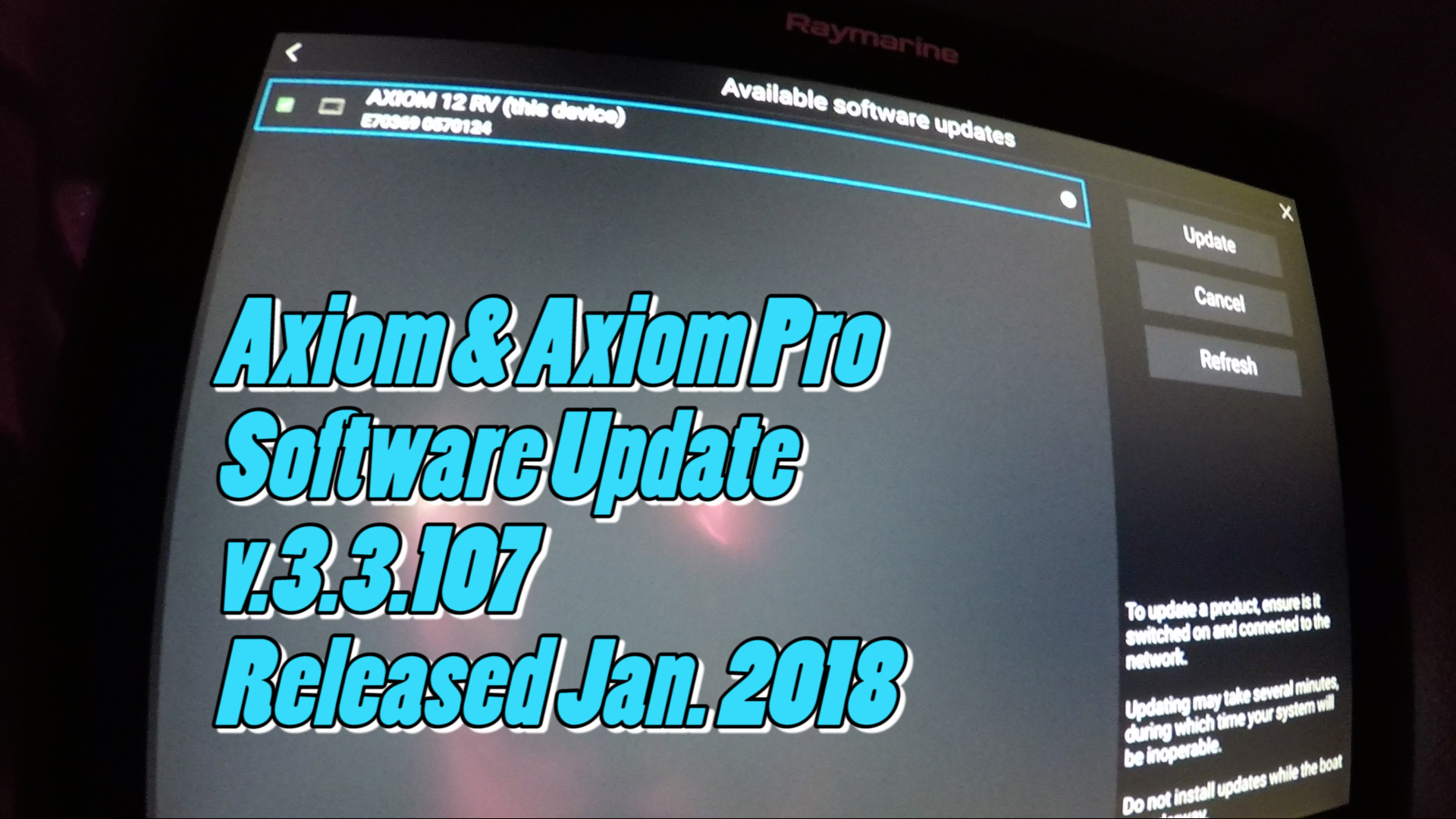 How to download the new Raymarine Axiom and Axiom Pro v3